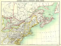 map of eastern usa and canada atlas map of us and canada canada east east us 1900 antique
