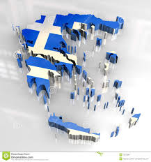 Greece On Map by 3d Map Of Greece Stock Images Image 7736674