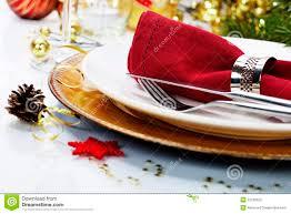christmas table place setting stock photography image 32798352