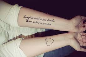 quote tattoo on side tattoo