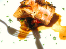 rhone cuisine pan roasted salmon rhone wine cooked vegetables wine food match