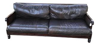 bernhardt leather u0026 cane sofa chairish