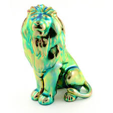lion figurine zsolnay iridescent eosin lion figurine zsolnay shop usa