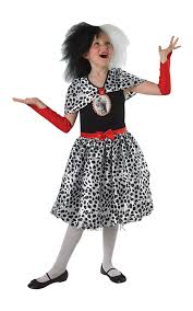 cruella deville costume spirit halloween amazon com disney cruella de vil kids costume 9 10 years by