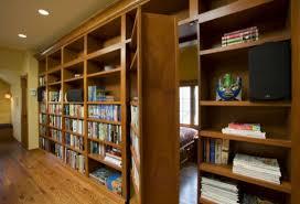 secret pub room behind bookcase door stashvault