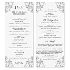 wedding program layouts wedding program exles 21st bridal world wedding ideas and