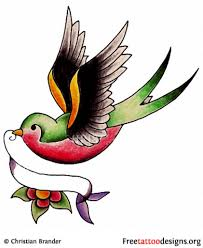 meaning and pictures of swallow tattoo designs throughout