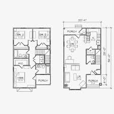 baby nursery narrow lot floor plan narrow house plans with front