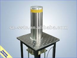 removeable car parking steel bollard and barrier with solar led