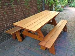 wooden table and bench outdoor wooden bench forever picnic tables unattached benches