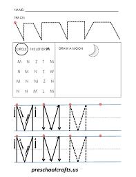 all worksheets letter m worksheets preschool free printable