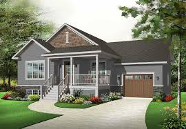 bungalow house plans with basement raised front porch for rocker 21802dr architectural designs