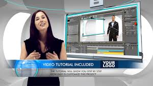virtual business television news studio adobe after effects