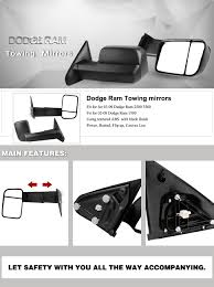 towing mirrors for dodge ram 3500 amazon com yitamotor towing mirrors for 02 08 dodge ram 1500 2003