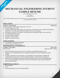 Engineering Student Resume Sample by 10 Mechanical Engineering Resume Examples Riez Sample Resumes
