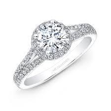 split band engagement rings white gold split shank white halo engagement ring