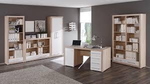 Schreibtisch Mit Regal Charon Schreibtisch Sonoma Eiche Weiß
