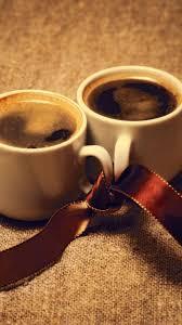 download wallpaper 1440x2560 coffee cups ribbon mood romance