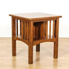 mission style end tables this mission style end table is featured in a solid wood with a