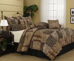 Leopard Bed Set Cheetah And Leopard Print Nanshing Cameroon Plush Comforter Set