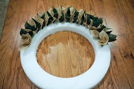 two tone burlap wreath fab you bliss