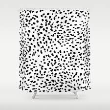 Zoological Shower Curtain animals black white and pattern shower curtains society6