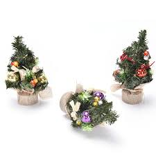 1pc 3 types mini small pine tree ornaments festival