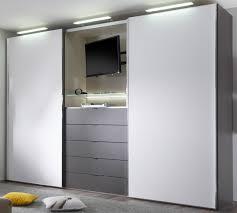 Schlafzimmerschrank Einbau Kleiderschrank Mit Integriertem Tv Fach Speyeder Net