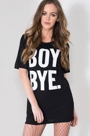 boy bye short sleeve t shirt dress little black dress ireland