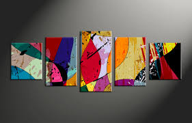 home decor canvas 5 piece canvas colorful home decor abstract multi panel art