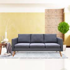 livingroom couch linen fabric family sofa 3 seat living room couch furniture with