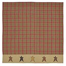 Shower Curtain Brands Amazon Com Vhc Brands Stratton Shower Curtain 72x72 Home U0026 Kitchen