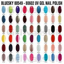 bluesky gel nail polish uv led soak off colour 10ml manicure free