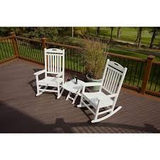 Outdoor Furniture 3 Piece by Trex Yacht Club Recycled Plastic 3 Piece Rocker Set Rocking