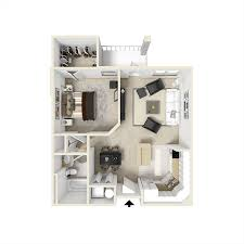 One Bedroom Apartment Floor Plans by Apartment Floorplans City View Orlando Florida