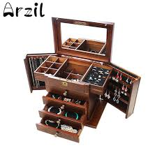 necklace display case images Solid wood jewellery storage box watch bracelet earring necklace jpg
