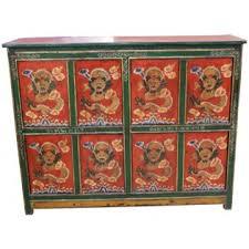 credenza tibetana antica credenza tibetana 144x114x38 codice ma 2045 etnicart