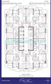 Burj Khalifa Floor Plans Orra Marina Floor Plans Justproperty Com
