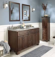 corner bathroom vanity ideas brown wood modern double sink