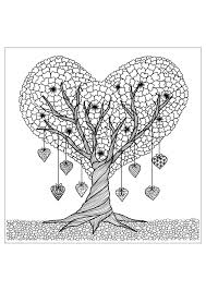 coloring pages for adults tree tree details flowers vegetation coloring pages for adults