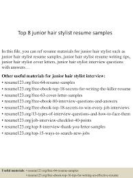 Resume Template For Hairstylist Top8juniorhairstylistresumesamples 150730023746 Lva1 App6892 Thumbnail 4 Jpg Cb U003d1438223914