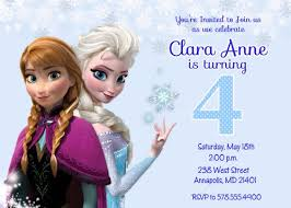 frozen movie birthday party invitation digital printable file