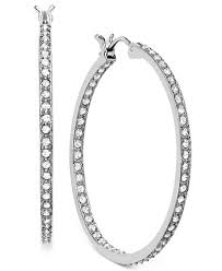 hoop earring swarovski earring rhodium plated somerset hoop earrings