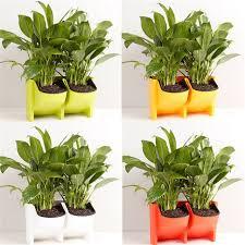 self watering indoor planters stackable 2 pockets vertical wall planter self watering hanging