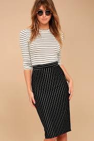 pencil skirt chic black pinstripe skirt pencil skirt midi skirt