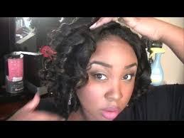 wetset hair styles heatless curls on natural hair wet set results youtube