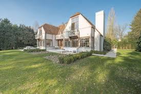 the luxurious villa modern set in a small town near bruxelles
