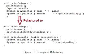 what is meant by code refactoring explain with exle quora