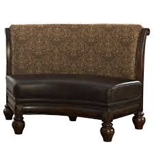 Curved Dining Bench Bench Curvedning Bench Upholstered With Round Table Seating