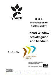 vcal unit 1 johari window activity guide and handout by
